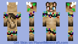 Christmas - Cat - Reindeer kitty Minecraft Skin