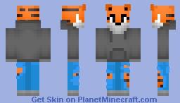 Tiger in Hoodie Minecraft
