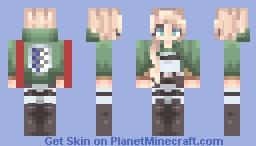 ° Historia Reiss  ° Attack on titan °  Christa Lenz ° Minecraft Skin
