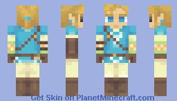 Link (BotW) (REMOVABLE CLOTHES) Minecraft Skin