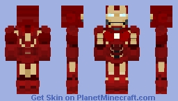 Iron Man Mark 4 (MK IV) - Iron Man 2 Minecraft Skin