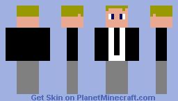 Default in a Suit Minecraft Skin