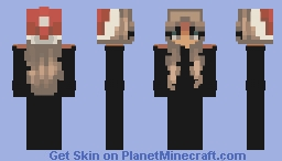 Basic black editable christmas skin. Minecraft Skin