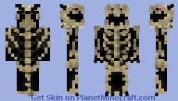Ender Dragon Skeleton Minecraft Skin