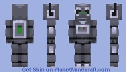 A machine resembling a human being and able to replicate certain human movements and functions automatically. Minecraft