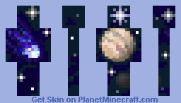 Cosmic hierarchy (Jupiter and Halley's comet) Minecraft Skin