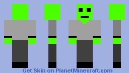 Simple Alien Skin Minecraft Skin