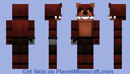 FNaF 4 | Unnightmare Foxy Minecraft Skin