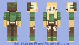 Corn Girl Minecraft Skin