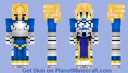 Artoria Pendragon (Saber) V2 アルトリア Fate/GrandOrder , StayNight , Zero Minecraft Skin