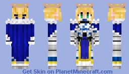 Artoria Pendragon (Saber) V3 アルトリア Fate/GrandOrder , StayNight , Zero Minecraft Skin