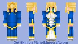 Artoria Pendragon (Saber) アルトリア Fate/GrandOrder , StayNight , Zero Minecraft Skin