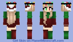 Christmas - Red & Green - ChristmasLight Crown Minecraft Skin
