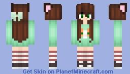 Cute Fox Girl Minecraft Skin