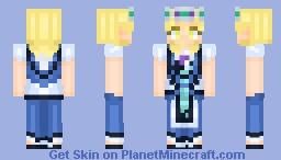 Mari Ohara Water Blue New World Minecraft Skin