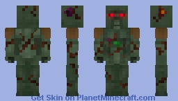 The Swamp Thing - Justice Craft Skin Minecraft Skin