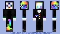 Rainbow glow bonder Minecraft Skin