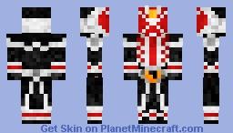 Kamen Rider Wizard Flame Style 仮面ライダーウィザード Minecraft Skin