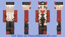 black and red Minecraft Skin