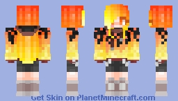Set It On Fire//Ash Reia Flare//Persona//RE-MAKE Minecraft Skin