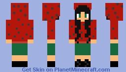Watermelon winter. Minecraft Skin