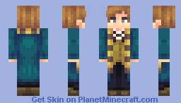 Newt Scamander Minecraft Skin