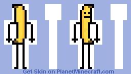 Banana o Platano (Banana) Minecraft Skin