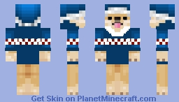 Christmas - Ugly Blue Sweater - The Dog Brothers Minecraft Skin