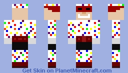 The Polka-Dot Man Minecraft Skin
