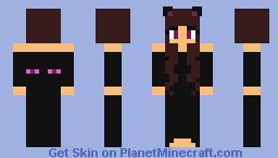 Ender cat girl Minecraft Skin