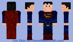 Batman v Superman Superman Minecraft Skin