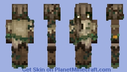 Withered Earth Girl 🌲 Five Elements Contest - (bestofluck!) Minecraft Skin