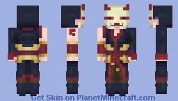 Blood Moon Samurai (Popreel) Minecraft Skin