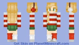 Candy Canes | Day 8 | ~𝘈𝘭𝘺𝘴𝘴𝘢~ Minecraft Skin