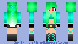 Emerald Girl Minecraft