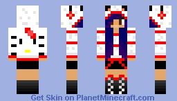 Hello Kitty Hoodie Minecraft Skin