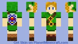 Zeruda No Densetsu Toki No Okarina 3D Minecraft Skin
