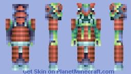 New Year Dragon Warrior Minecraft Skin