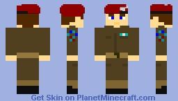 British Army Parachute Regiment soldier - World War 2 Minecraft Skin