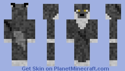 Grey Wolf Minecraft Skin