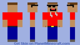 Dude with Sunnglasses Minecraft Skin