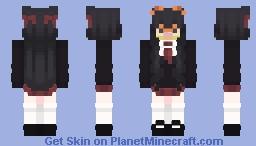 Anime School Girl Garfield Minecraft Skin