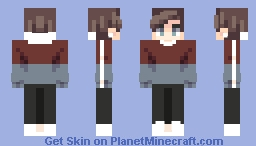 Red and Blue Minecraft Skin
