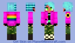 Dinosour but in a really ugly jacket Minecraft Skin