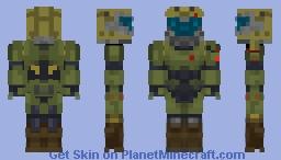 DOOM 2016/DOOMSLAYER Minecraft Skin