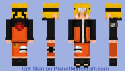 Naruto Shippuden-Naruto Uzumaki (Kyubi Chakra and Nature Chakra combined) Minecraft