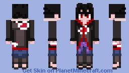 Naruto Shippuden- Sasuke Uchiha (Akatsuki Cloak) Minecraft Skin