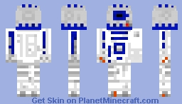 R2D2 A New Hope Minecraft Skin