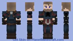 Steve Rogers Aka Captain America *Infinity War* Minecraft Skin