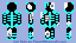 Neon Blue (Resurrected) Minecraft Skin